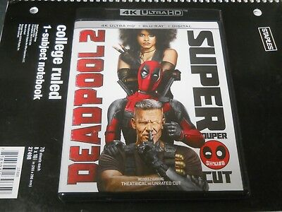 Deadpool 2 Super Cut - 4K Ultra HD + Blu-ray 4 Disc Set (no digital code)