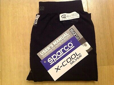 NEW sparco x-cool SILVER RW9 SHIELD FIA 8856-2000 racing Bottoms BLACK XXXL