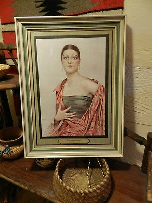 """1920'S""""BEAUTE MODERNE"""" By GUSTAVE BRISGAND French L'ILLUSTRATION Print W/FRAME"""