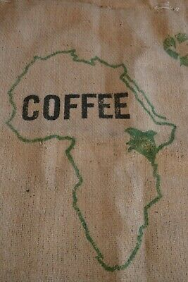 Jute hessian coffee sack use for gardening or craft projects