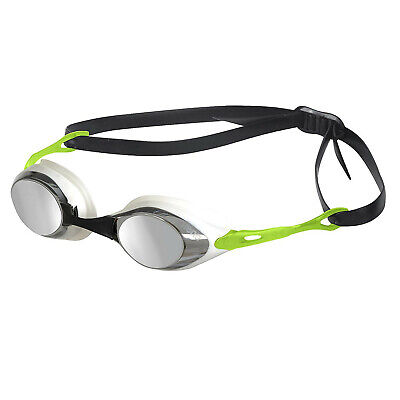 Arena Cobra Mirror Swimming Goggles Smoke Silver Green