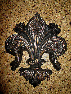 Fleur de Lis, Wall Plaque, Old World, Tuscan, Medieval, French Country, Cross