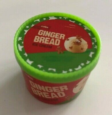 GINGERBREAD ICE CREAM - SEALED & UNOPENED! # Coles Little Shop! Stikeez