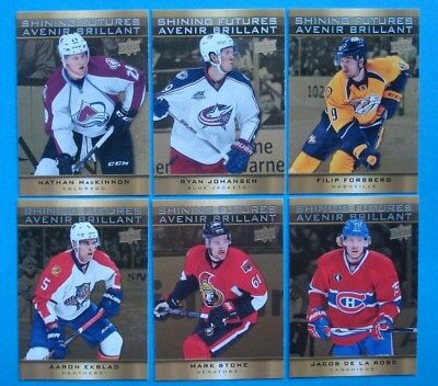 Lot 2015 *Tim Hortons* UD NHL Hockey Cards *SHINING FUTURES* MacKinnon FORSBERG