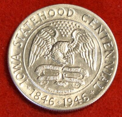 1946 Iowa Centennial Silver Half Dollar 50C Choice Bu Beautiful Coin Gift Ch76