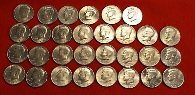 1971-2001 Kennedy Half Dollar Roll 10 Coins All Different Dates/mm Circ
