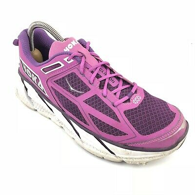 a375b0a9c6953 Women s Hoka One One Clifton Pink Trail Running Shoes Size 9.5 Athletic  Sneakers