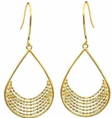 1580edbab628f 14K YELLOW AND White Gold Cascading Hoop Earrings Hoops 1.88