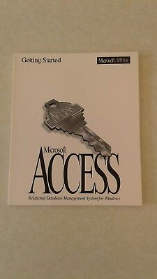 Manuals x 2 for Microsoft Access - Getting Started and Building Applications