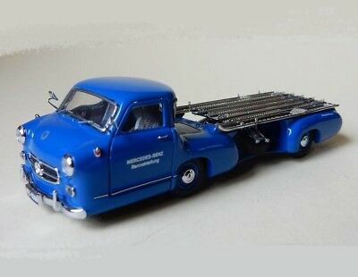 Mercedes Benz 1954 Renntransporter Blue M-036K CMC 1:43 New in a box! original!