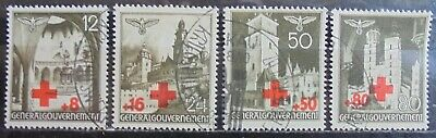 GENERAL GOVERNMENT 1940 Red Cross Fund Complete Set of 4 Used