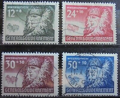 GENERAL GOVERNMENT 1940 Winter Relief Fund Complete Set of 4 Used