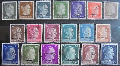 GERMANY Third Reich 1941 Occupation of Russia Complete Set of 18 + 1 Used