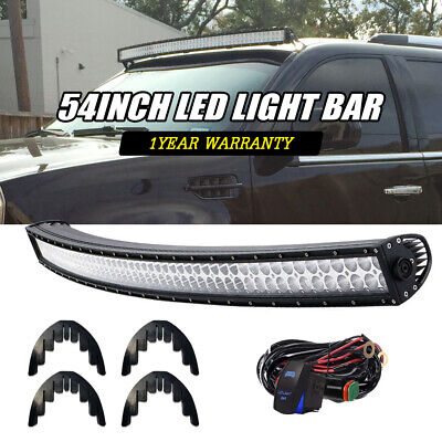 """Offroad 54inch LED Light Bar Curved Flood Spot Combo Truck SUV Roof Driving 52"""""""