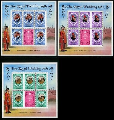 Antigua 1981 MNH MUH M/S - Royal Wedding - Prince Charles and Lady Diana Spencer