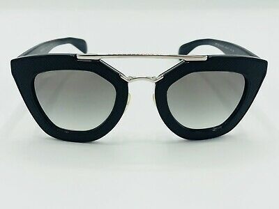 a30b96db6 PRADA SPR 14S 1AB-0A7 Black Sunglasses 49mm Ornate Grey Gradient Lens