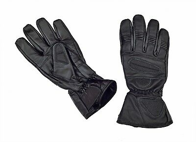 Sport Max Carbon Protectors Motorcycle Biker Leather sport Gloves By RealRide