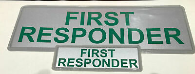 FIRST RESPONDER REFLECTIVE BADGE PACK  - LARGE 300mm x 100mm/small 135mm x 45mm