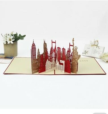 3D Card New York City Pop Up Birthday Greeting Christmas