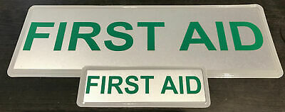 FIRST AID REFLECTIVE BADGE PACK  - MID 250mm x 100mm/small 135mm x 45mm