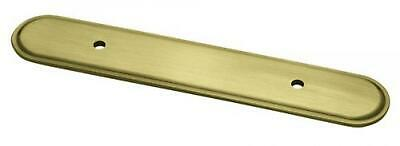 """Liberty Hardware P30047V-AB-E2 Antique Brass 3"""" Raised Oval Pull Back Plate"""