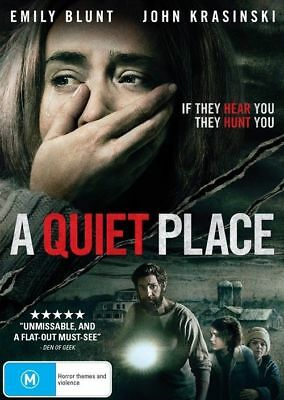 A Quiet Place = 2018 = Emily Blunt Genuine Aust Release R4 Dvd New Sealed Horror