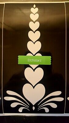 10 6x3 inch heart glass etching stencils single use, decal available if required