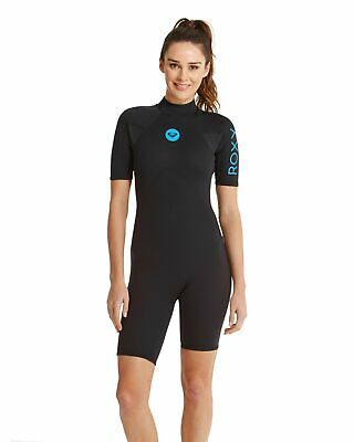 NEW ROXY™  Womens Syncro Base 2/2mm Short Sleeve Springsuit Wetsuit Womens Surf