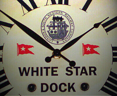 London & South Western Railway Style Clock, for the White Star Dock, Southampton