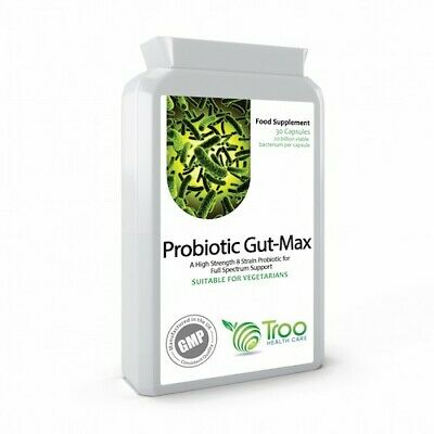 Probiotic Gut-Max 30 Capsules 8 Strain Probiotics Guaranteed 20 Billion cfu