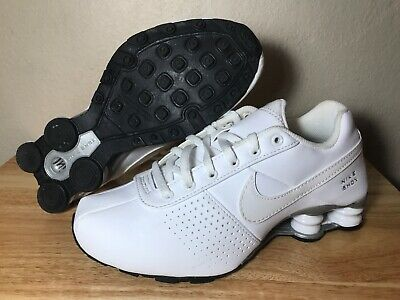 wholesale dealer 5ad47 a13d4 Nike Shox Deliver GS Youth Running Shoes SZ 5Y White Silver Black 615981-100
