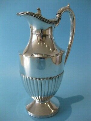 Beautiful Antique Silver Plated Victorian Half Panel Coffee / Hot Chocolate Pot