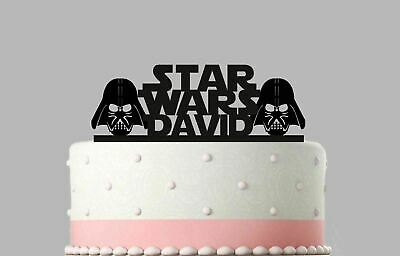 Birthday Acrylic Cake Decoration Birthday Star Wars Personalised Topper.15
