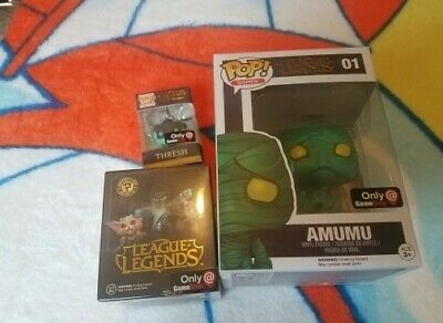 ☆ Amumu Funko Pop! League of Legends ☆ Gamestop Exclusive W/ Thresh and lucian