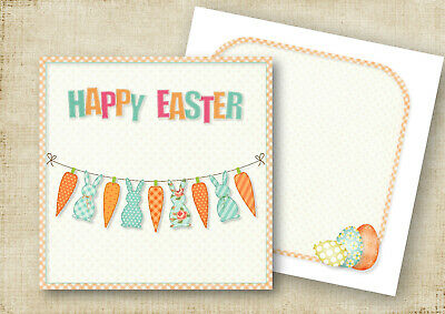 Quality Easter Bunting Easter Greeting Cards Or Thank You Cards Personalised
