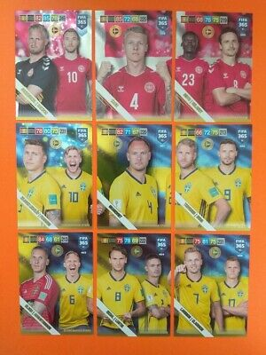 Panini Adrenalyn XL Fifa 365 2019 Nordic Edition Scandinavian Stars choice cards