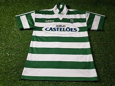 Sport Lisbon portugal football rare medium mans 1994 adidas signature jersey