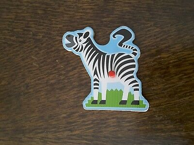 ZEBRA REPLACEMENT PUZZLE piece for Melissa & Doug Zoo animals sound