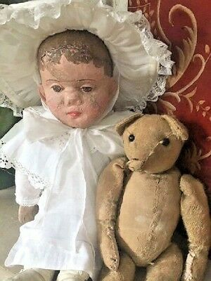 antique american cloth doll MARTHA WELLINGTON (friend of philadelphia baby) 1883