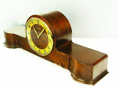 Pure Art Deco Long  Chiming Mantel Clock From  Junghans Germany