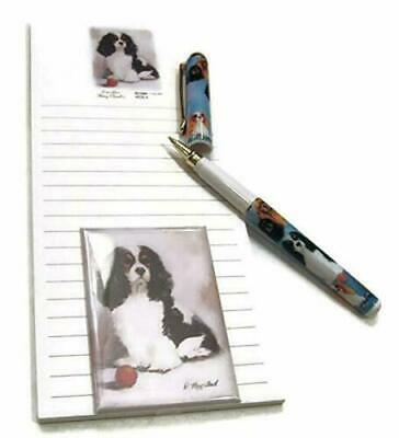 Cavalier King Charles Spaniel Gift Set Magnetic List Pad, Magnet & Pen By Ruth