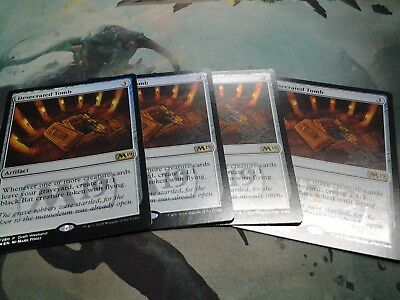 4 x Desecrated Tomb - Release PROMO - Core Set 2019 Magic the Gathering
