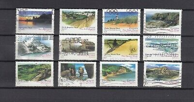 "Canada  1993  # 1472-1483 "" Canada Day -Provincial Parks  ""  Set of 12  Used  F"