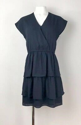 942e909ebb94 NWT J CREW Point Sur Tiered Ruffle Mini Dress In Navy Sz 4 -$110 ...