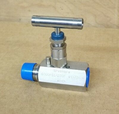 "NEW  1/2""  HEX NEEDLE VALVE  316 STAINLESS 6000 PSI - CHEM OIL , 1/2 in"