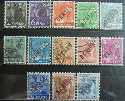GERMANY (Berlin) 1948 Pictorial Issue, Black Overprint 13 Used