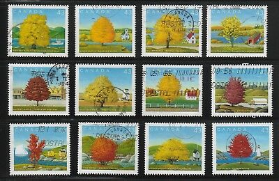 "Canada  1994  # 1524 A - L "" Canada Day - Maple Trees ""  Used Set of 12"