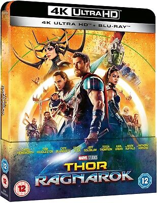 Marvel Thor: Ragnarok (4K Bluray Steelbook) UK Version Avengers SMALL DENT