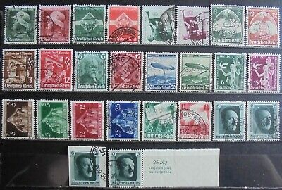 GERMANY Third Reich 1935-37 Excellent Collection of 26 Used