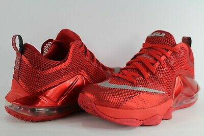 4c459f271f Nike Lebron XII Low 12 University Red Reflective Silver Gym Red Black Size 8
